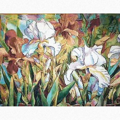 Exclusief Wandkleed White Flower 138 X 105 Cm