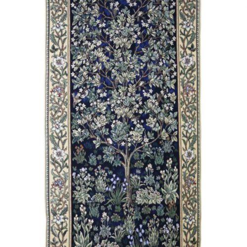 Exclusief Wandkleed Morris: Tree Blue 68×160 Cm