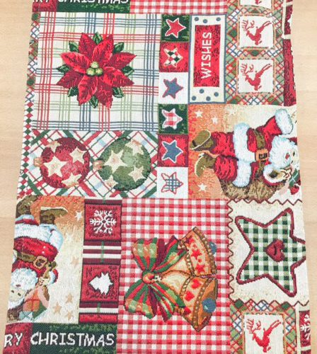 Placemat Kerst rood