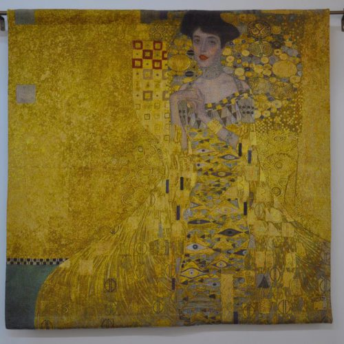 Exclusief wandkleed – Gustav Klimt – Woman in Gold – 100 x 100 cm