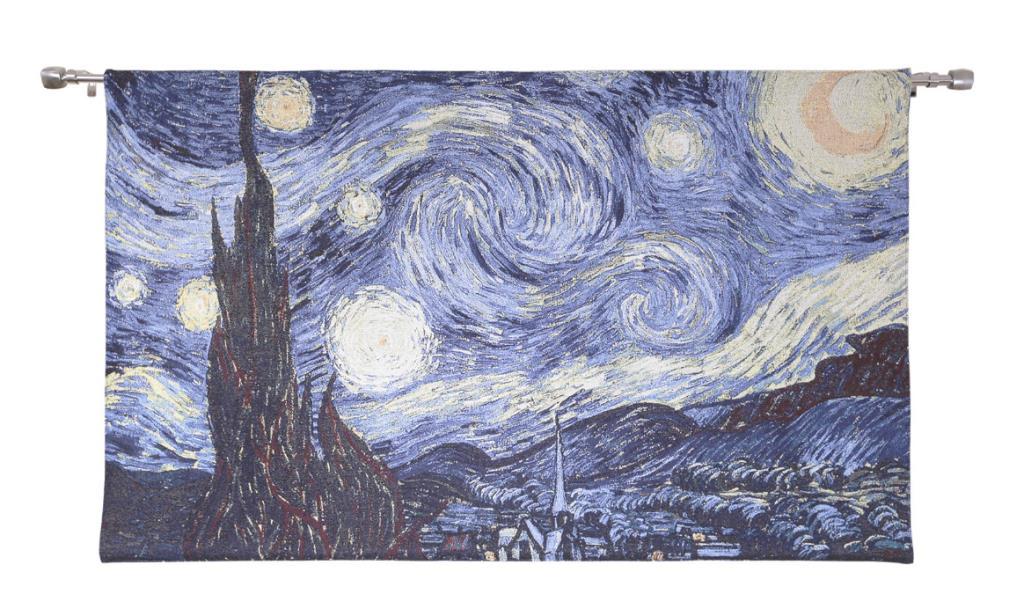 Wandkleed - Vincent van Gogh - Starry Night - Sterrennacht - 82cm x 120cm